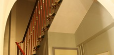 The stairwell towards rooms
