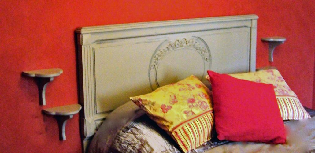 Chambre Artemisia Gentileschi - tête de lit et coussins